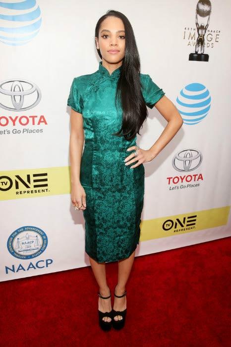 Bianca Lawson at the 2017 NAACP Image Awards