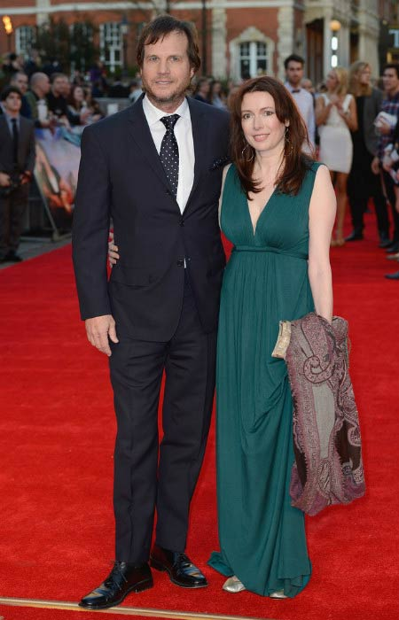 Bill Paxton and Louise Newbury at the Titanic 3D World premiere in March 2012 in London