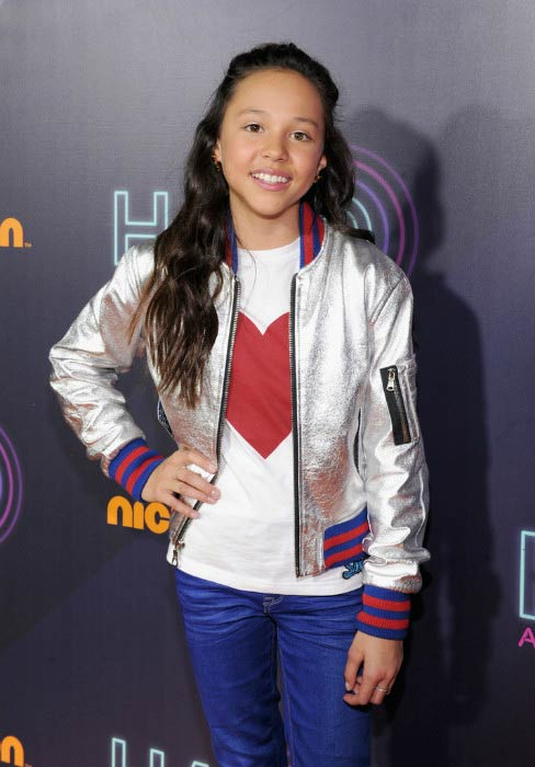Breanna Yde at the Nickelodeon HALO Awards in November 2016
