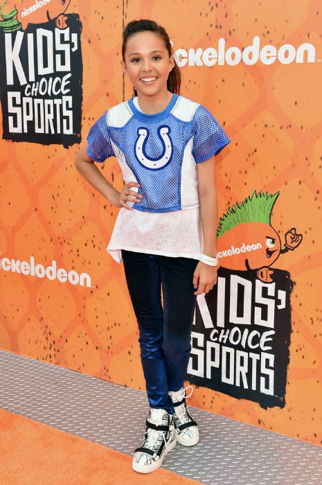 Breanna Yde at the Nickelodeon Kids' Choice Sports Awards in June 2016