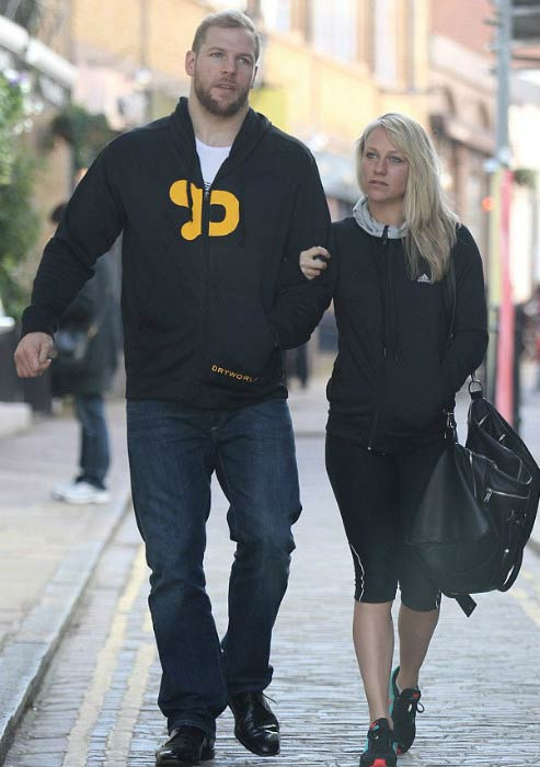 Chloe Madeley and James Haskell after leaving a gym in London in March 2015