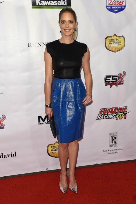 "Christina Moore at the Los Angeles premiere of ""Running Wild"" in February 2017"