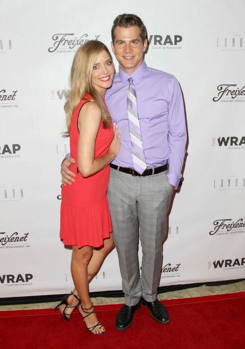 Christina Moore and John Ducey at TheWrap's First Annual Emmy Party in June 2014