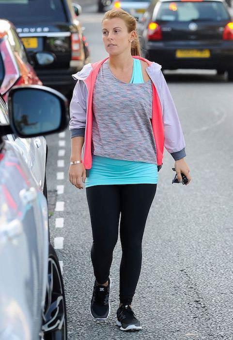 Coleen Rooney heading towards the gym in Alderley Edge