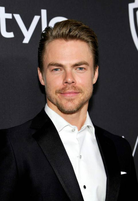 Derek Hough at the 2017 Golden Globe Awards Post-Party