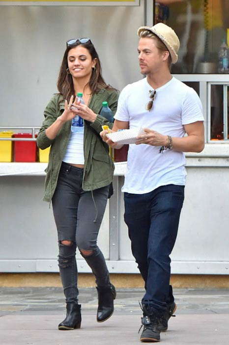 Derek Hough and Hayley Erbert at the Disneyland in April 2016