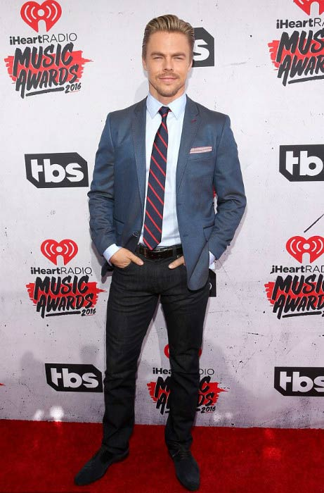 Derek Hough at the iHeartRadio Music Awards in April 2016