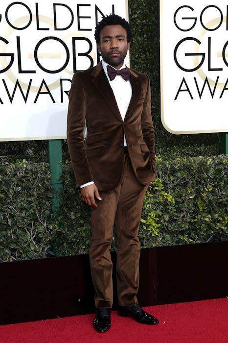 Donald Glover at the 2017 Golden Globe Awards