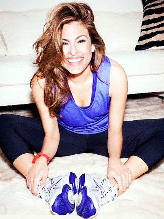 Eva Mendes in workout gear