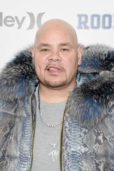 Fat Joe posing at the Rookie USA fashion show during New York Fashion Week in February 2017