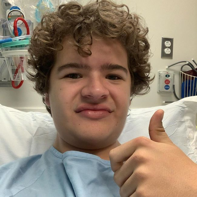 Gaten Matarazzo after surgery #4 of Cleidocranial Dysostosis (CCD) in January 2020