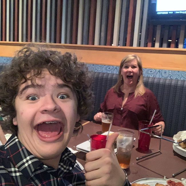Gaten Matarazzo wishing his mother Happy Birthday in February 2020
