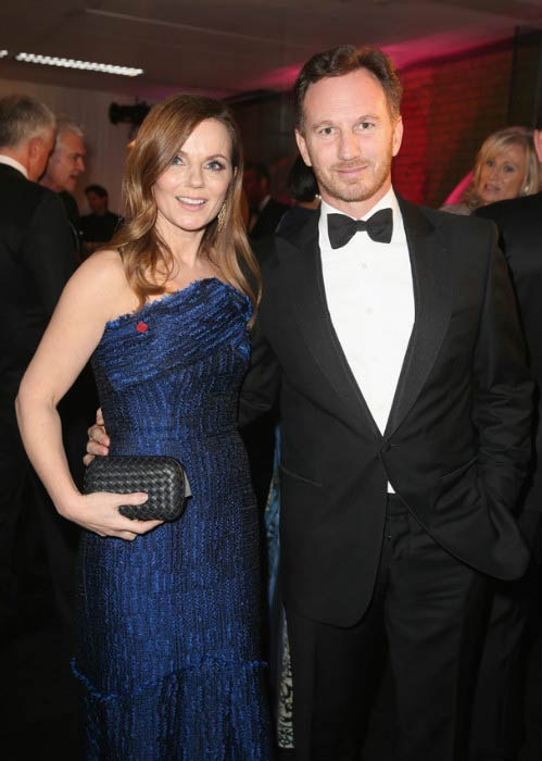 Geri Halliwell and Christian Horner at the pre-dinner reception for the Prince's Trust Invest in Futures Gala Dinner in February 2016