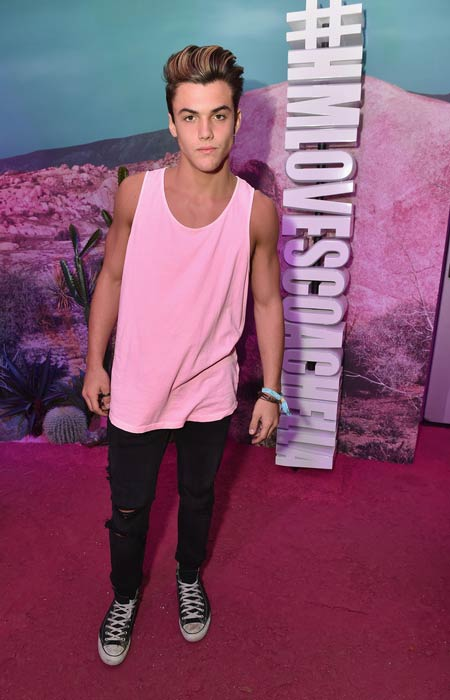 Grayson Dolan at the H&M Loves Coachella Pop UP in April 2016