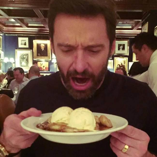 Hugh Jackman with his Wolverine diet
