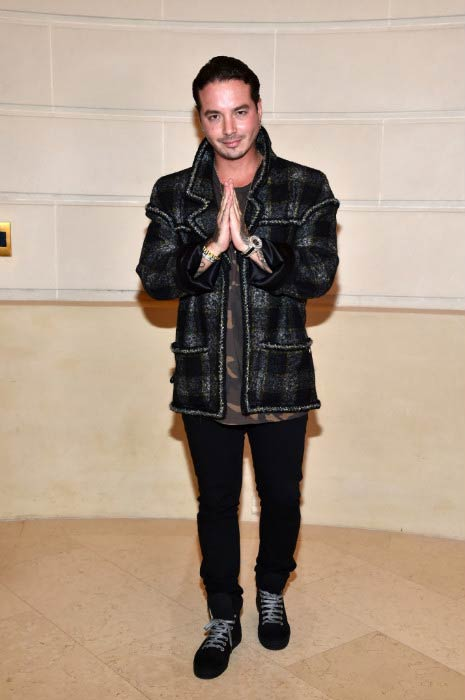 J Balvin at the Chanel Collection des Metiers d'Art 2016/17: Paris Cosmopolite Show