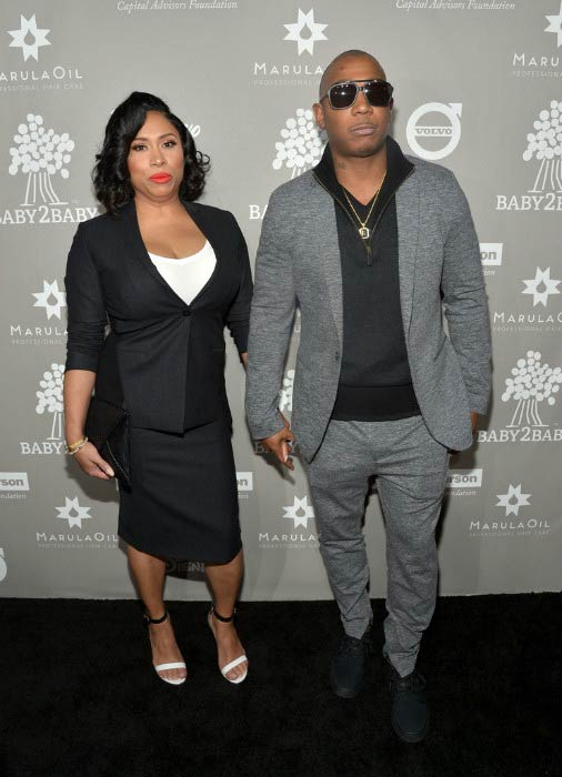 Ja Rule and Aisha Atkins at the Baby2Baby Gala in November 2015