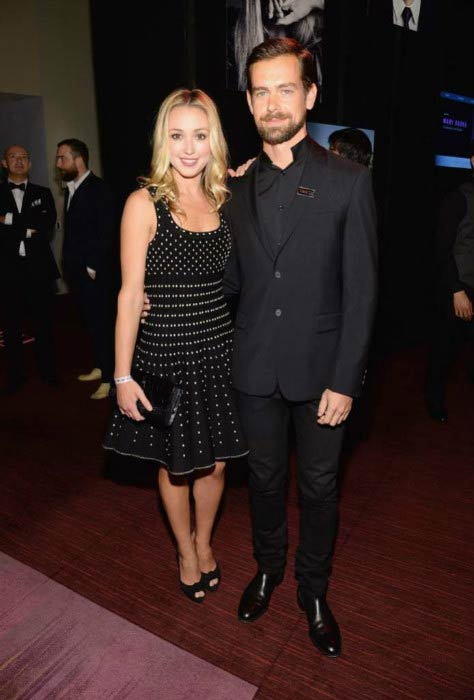 Jack Dorsey and Kate Greer at the TIME 100 Gala in April 2014