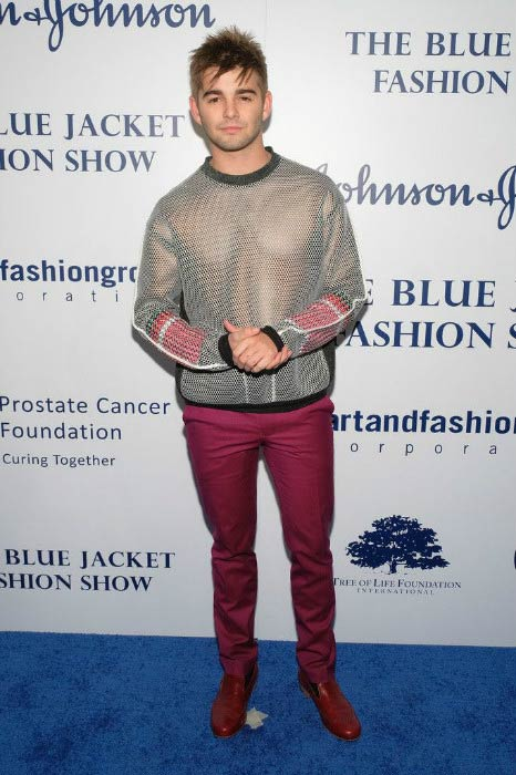 Jack Griffo at the Inaugural Blue Jacket Fashion Show in February 2017