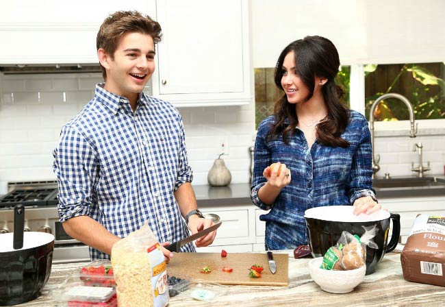 Jack Griffo and Ryan Newman as seen in November 2014