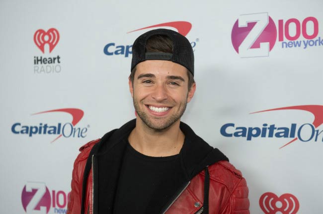 Jake Miller at the Z100's iHeartRadio Jingle Ball in December 2016