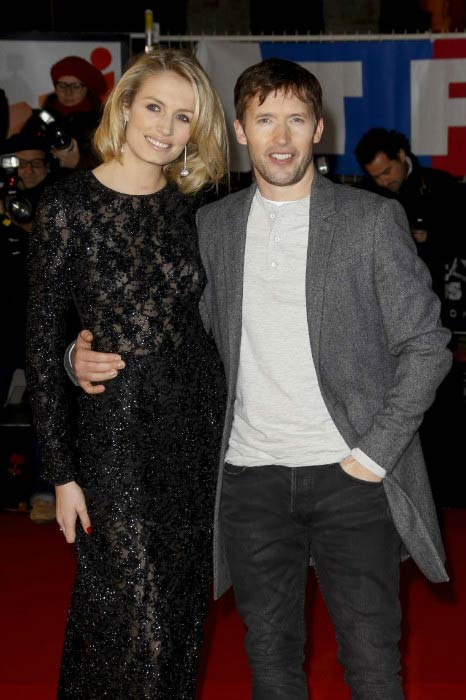 James Blunt and Sofia Wellesley at the 15th NRJ Music Awards in December 2013 in Cannes, France