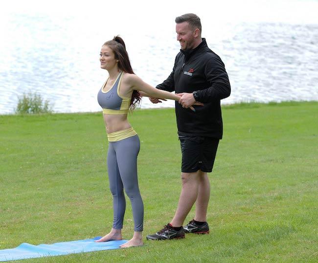 Jess Impiazzi exercising outdoors
