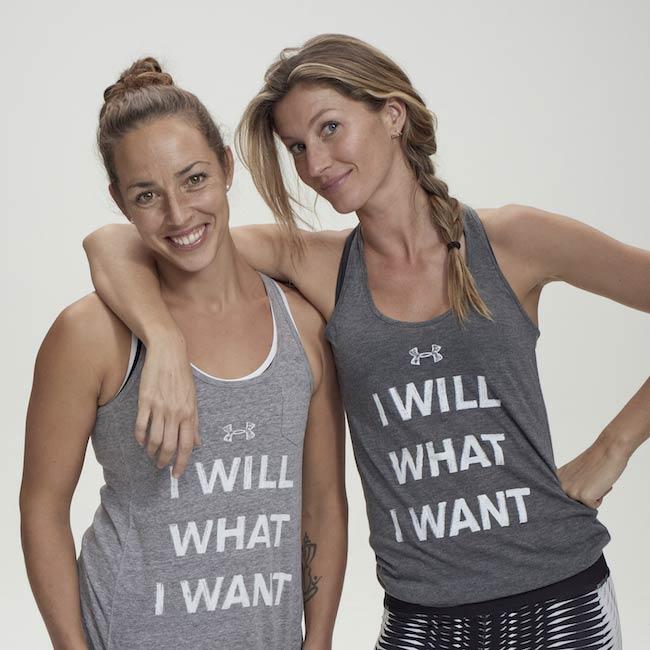 Jill Payne (Left) with Gisele Bundchen