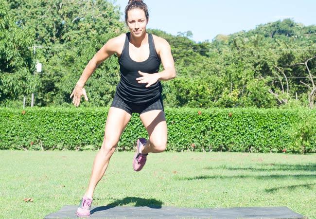 Jill Payne exercising outdoors
