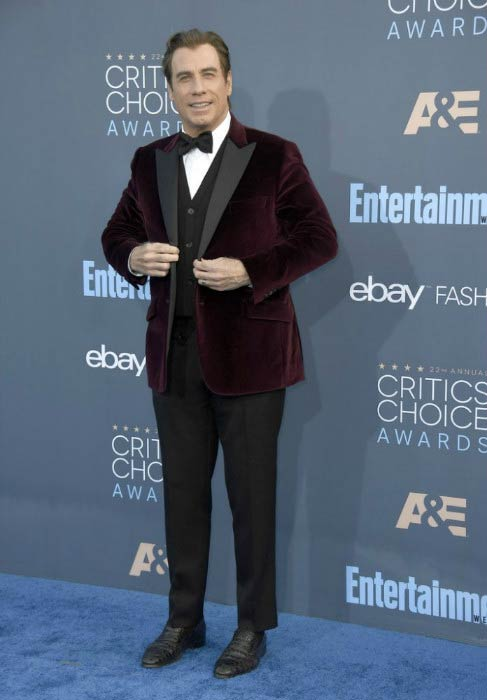 John Travolta at Critics' Choice Awards in December 2016