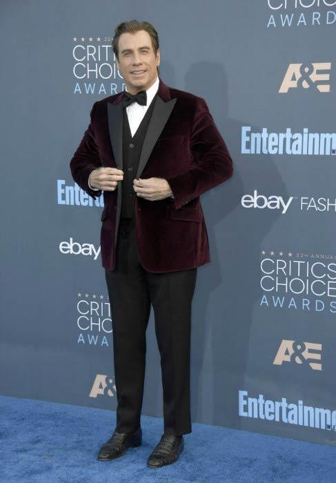 John Travolta at Critics' Choice Awards in December 2016