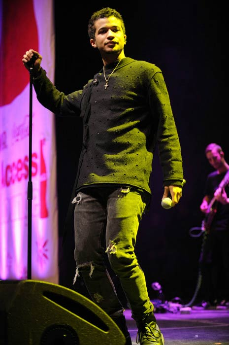 Jordan Fisher performing during Z100's Jingle Ball Event in December 2016