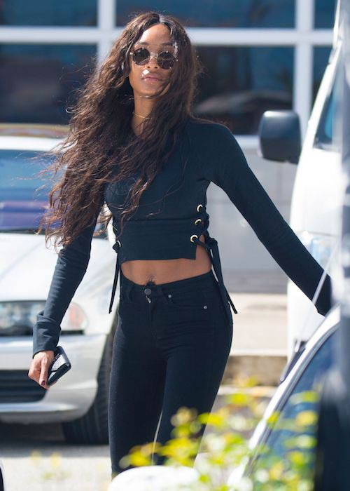Jourdan Dunn out and about in Barbados in 2017