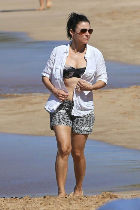 Julia Louis-Dreyfus at the Maui beach in December 2014