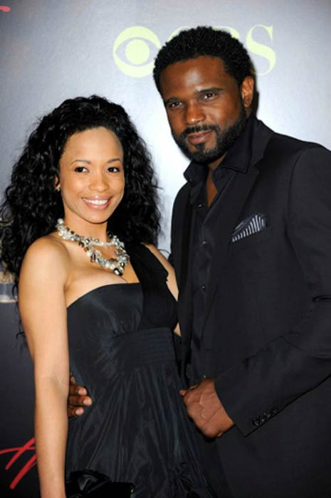 Karrine Steffans and Darius McCrary at the CBS network event