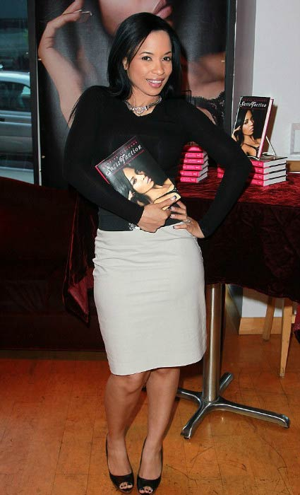 Karrine Steffans at the party and signing event for her book SatisFaction in August 2011