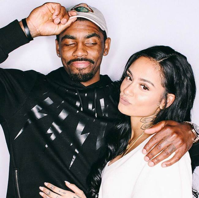 Kehlani and Kyrie Irving in a picture shared on social media in 2016