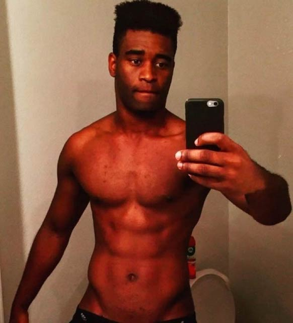 Keo Motsepe showing shirtless body in a social media post shared in 2016