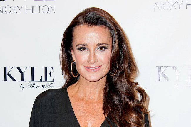 Kyle Richards at one of the events to promote her store