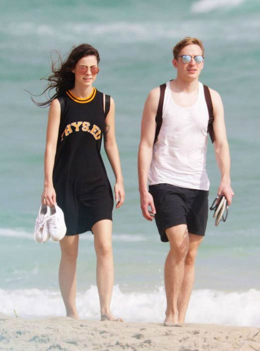 Lena Meyer-Landrut and Max K. von H at the Miami Beach in January 2016
