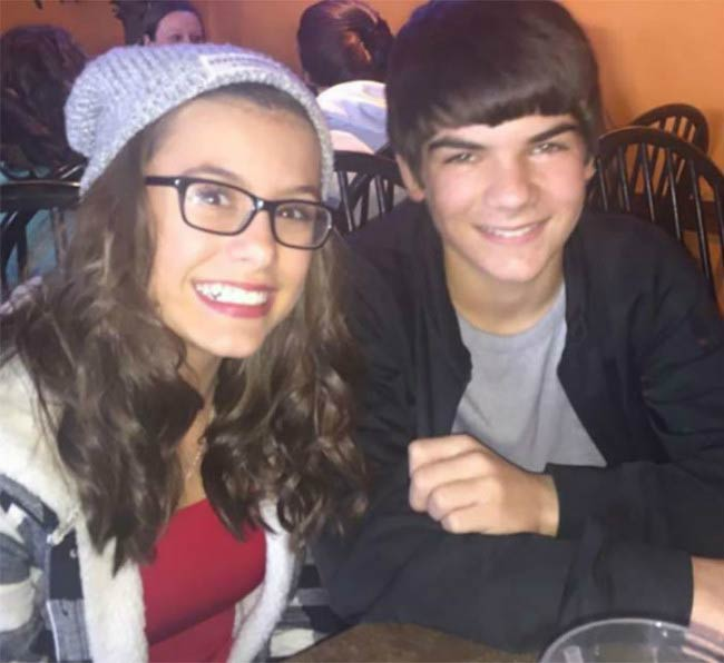 Madisyn Shipman and Logan Patrick in a social media picture in 2016
