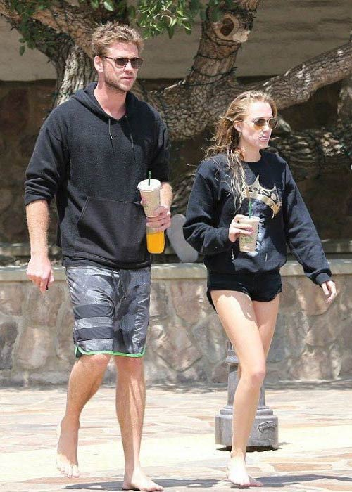 Maika Monroe and Liam Hemsworth on an outing in Malibu in July 2015
