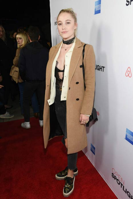 Maika Monroe at the Open Spotlight at The Oasis during Airbnb Open LA in November 2016