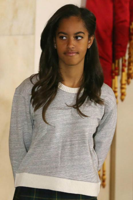 Malia Obama at the President Obama Pardons National Thanksgiving Turkey At Annual Ceremony in November 2014
