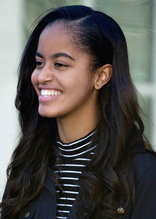 Malia Obama at the President Obama Pardons National Thanksgiving Turkey event in November 2015