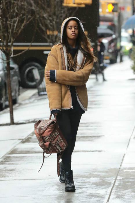 Malia Obama on the streets of New York City in March 2017