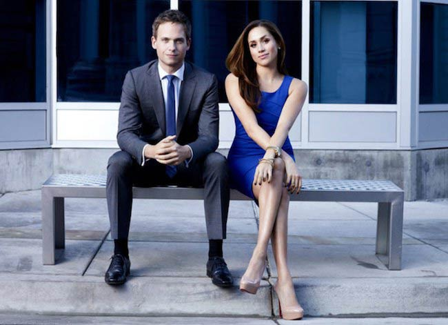 Meghan Markle with Patrick J. Adams Suits costar