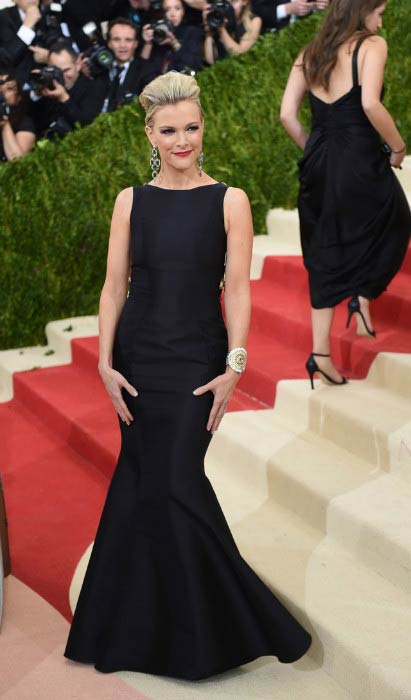 Megyn Kelly at the Costume Institute Benefit Gala in May 2016