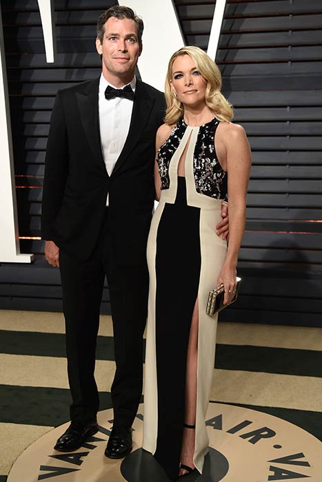 Megyn Kelly and Douglas Brunt at the 2017 Vanity Fair Oscar Party