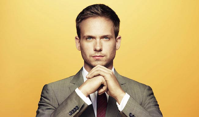 Patrick J. Adams in a photoshoot for USA Network